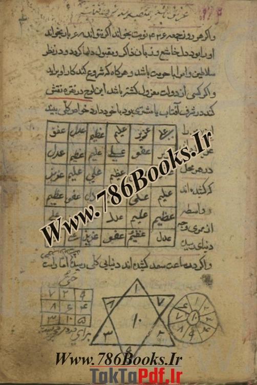 طریقه رسم الواح اسماء الحسنی